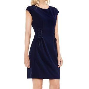 Vince Camuto NWT Navy Night Sky Twist Dress